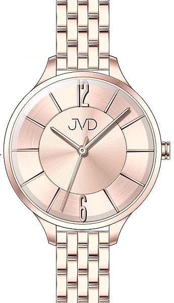 Voděodolné dámské ocelové hodinky JVD W77.3 s velkým číselníkem POŠTOVNÉ ZDARMA!