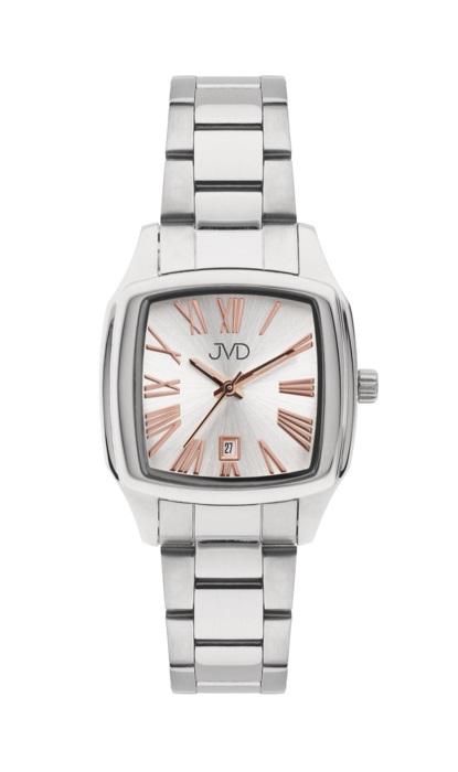 Hranaté ocelové unisex hodinky JVD W78.1 pro pány i dámy s datumovkou POŠTOVNÉ ZDARMA! (POŠTOVNÉ ZDARMA!!!)
