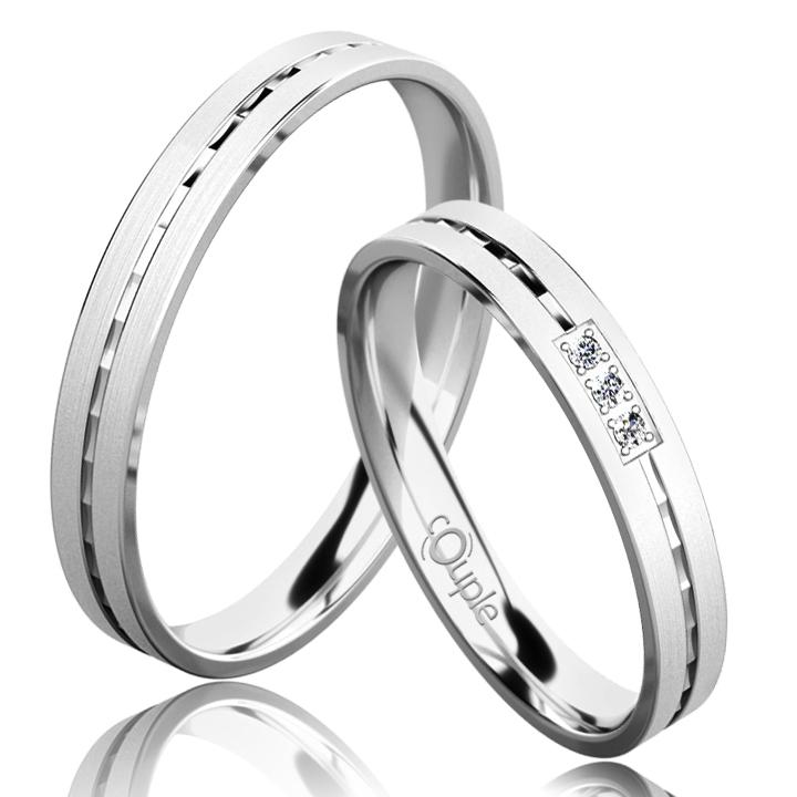 EGREMNI snubní prsteny bílé zlato C 3 N 21 M (C 3 N 21 M )