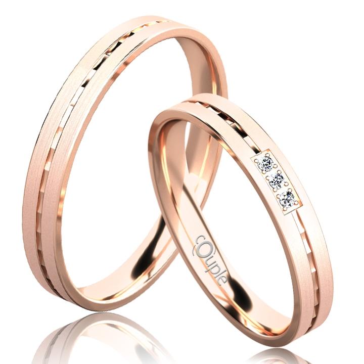 EGREMNI snubní prsteny z růžového zlato C 3 N 21 M (C 3 N 21 M )