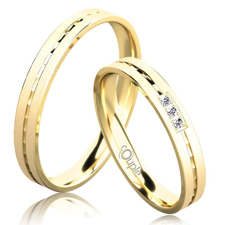 EGREMNI snubní prsteny žluté zlato C 3 N 21 M (C 3 N 21 M )