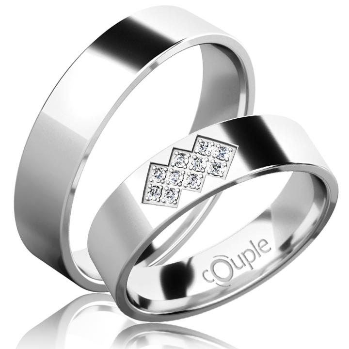 FLAMENCO snubní prsteny bílé zlato C 5 PCW 2 (C 5 PCW 2 )