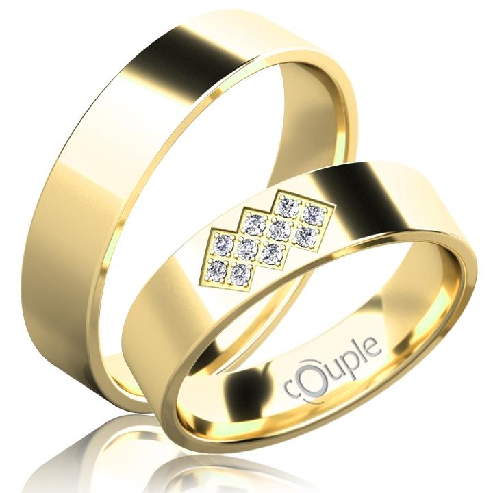 FLAMENCO snubní prsteny žluté zlato C C 5 PCW 2 (C 5 PCW 2)