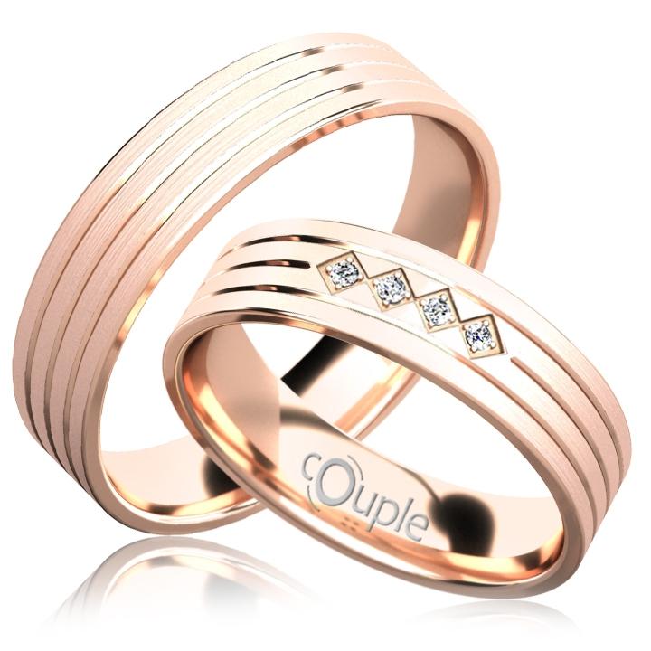 LOPES snubní prsteny růžové zlato C 5 PCW 5 M