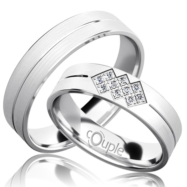 PALM snubní prsteny bílé zlato C 5 PCW 3 M (C 5 PCW 3 M )