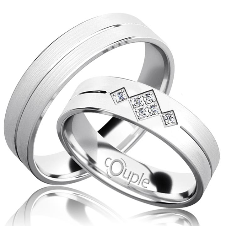 RENDEZVOUS snubní prsteny bílé zlato C 5 PCW 4 M (C 5 PCW 4 M )