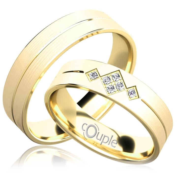 RENDEZVOUS snubní prsteny žluté zlato C 5 PCW C 5 PCW 4 M (C 5 PCW 4 M )