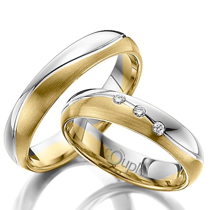 VARADERO snubní prsteny kombinace žluté a bílé zlato C 4 WN 2 Z-M B (C 4 WN 2 Z-M B )