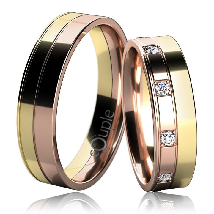 MAURICIUS snubní prsteny žluté a červené zlato C 5 UE 1 ZC (C 5 UE 1 ZC )