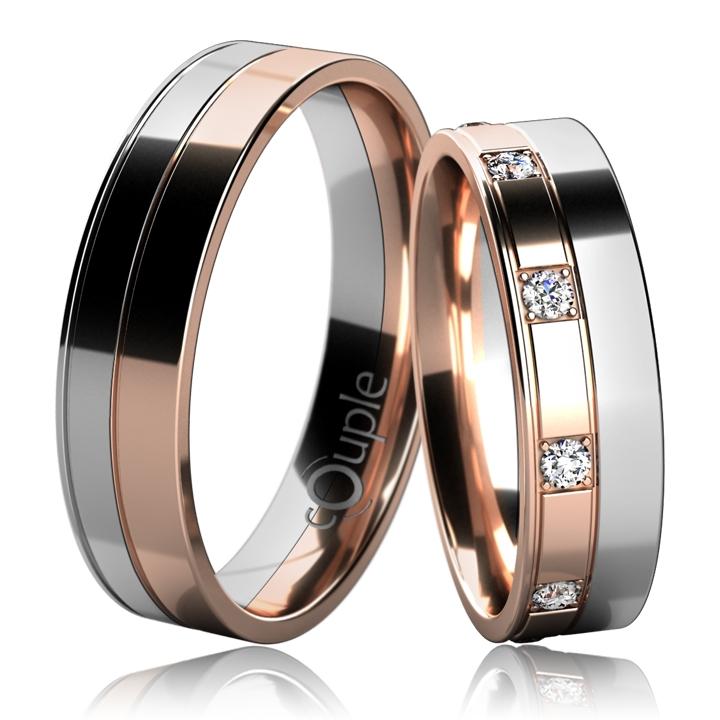 MAURICIUS snubní prsteny červené bílé zlato C 5 UE 1 BC (C 5 UE 1 BC)