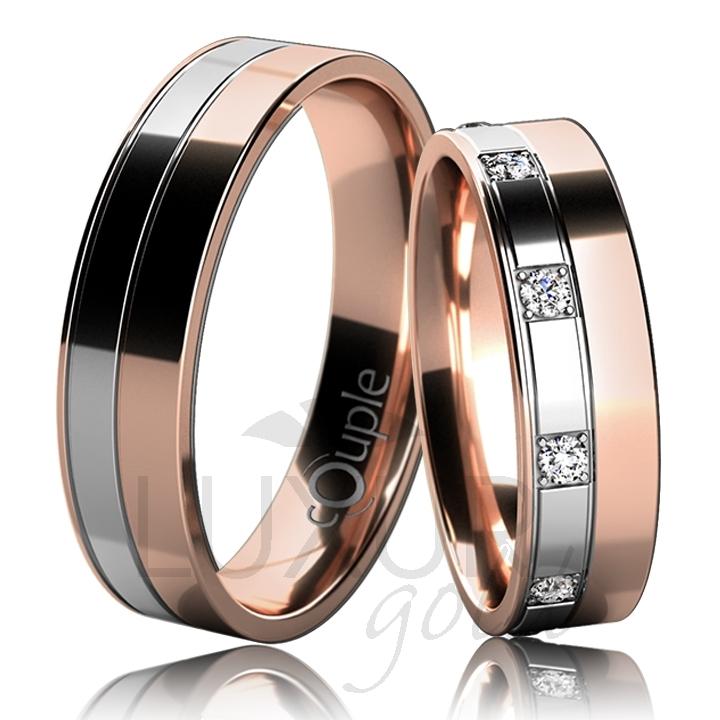 MAURICIUS snubní prsteny bílé, červené zlato C 5 UE 1 CBC (C 5 UE 1 CBC )