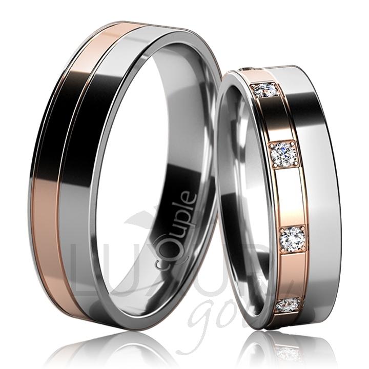 MAURICIUS snubní prsteny červeno bílé zlato C 5 UE 1 BCB (C 5 UE 1 BCB )
