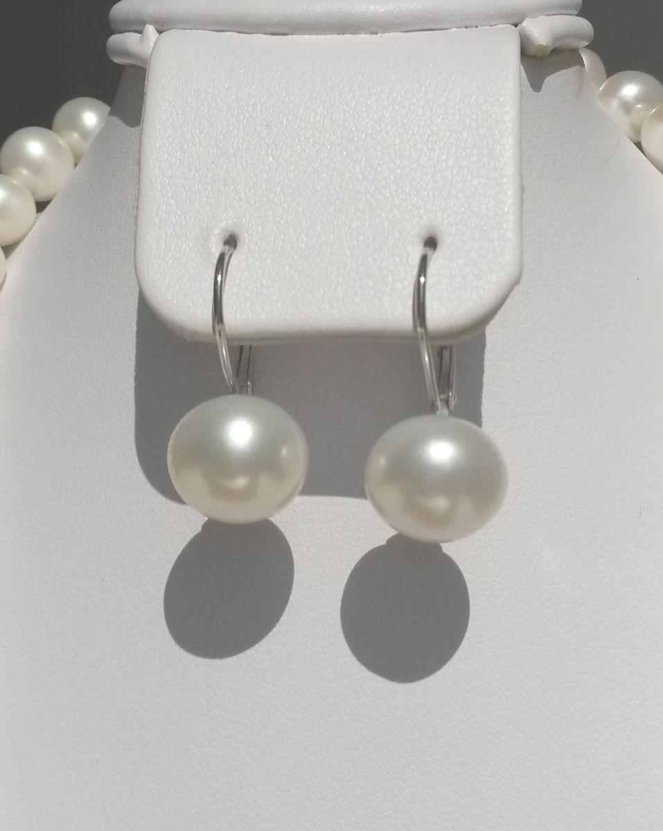 Stříbrné náušnice SVLIE023569 s perlami  5d9d7ac3354