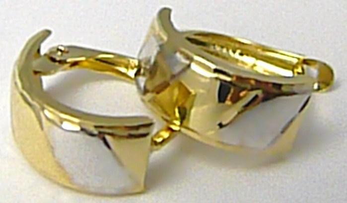 Dámské zlaté náušnice v kombinaci bílého a žlutého zlata 585/1,55gr P475 POŠTOVNÉ ZDARMA! (1131819)