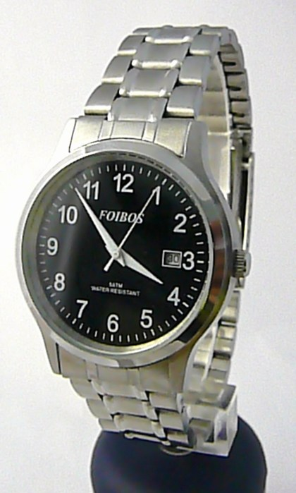 Pánské voděodolné ocelové kovové čitelné hodinky Foibos 3882.2 - 5ATM