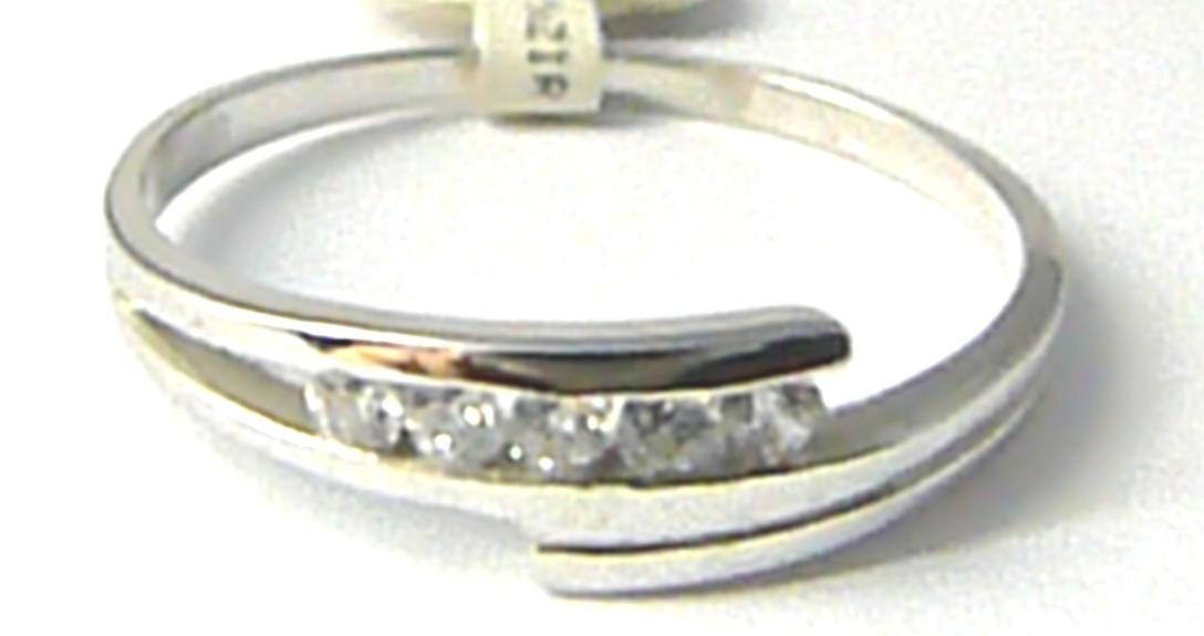 Zlatý prstýnek z bílého zlata se zirkony 585/1,80 gr vel. 60 P519 POŠTOVNÉ ZDARMA!