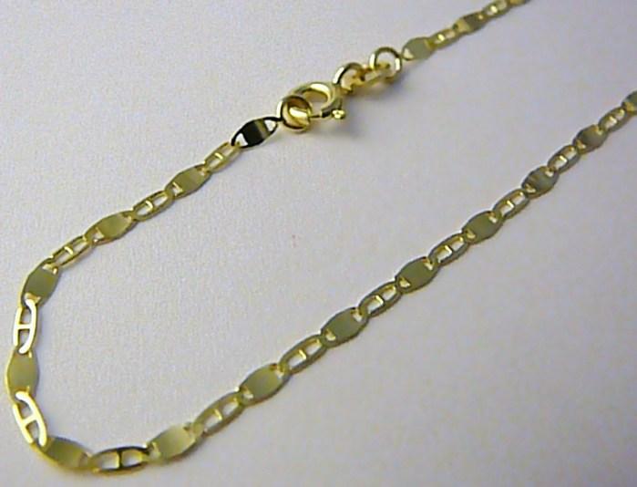 Pánský mohutný plný zlatý řetízek (řetěz) 50cm 585/2,52gr P520 POŠTOVNÉ ZDARMA!