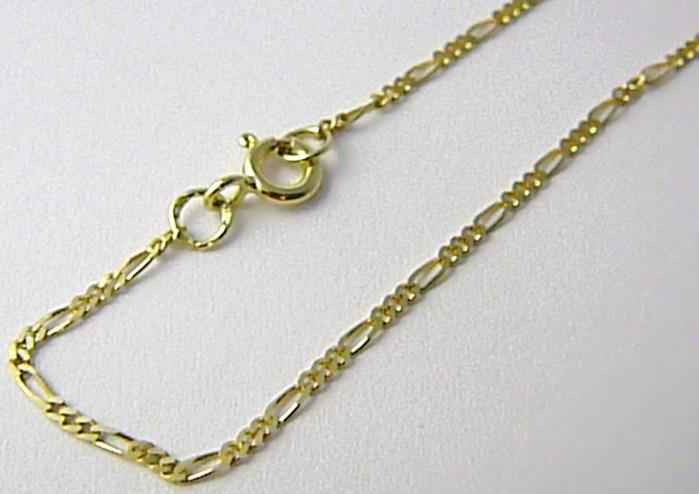 Pánský plný zlatý řetízek (řetěz) FIGARO 50cm 585/2,37gr P523 POŠTOVNÉ ZDARMA!
