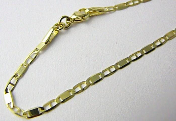 Mohutný plný zlatý řetízek (řetěz) šířka 2,2mm 45cm 585/3,15gr P525 POŠTOVNÉ ZDARMA! (2840075)