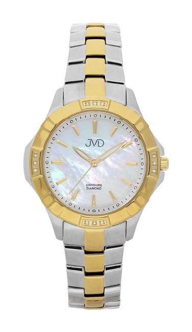 Náramkové hodinky JVD steel J4073.2 s pravými diamanty a safírovým sklem POŠTOVNÉ ZDARMA!