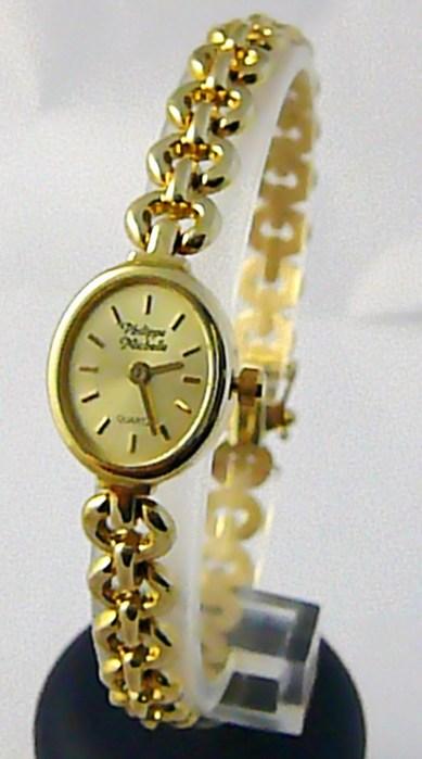 Luxusní společenské dámské švýcarské zlaté hodinky Philippe Michelle 585/15,23gr