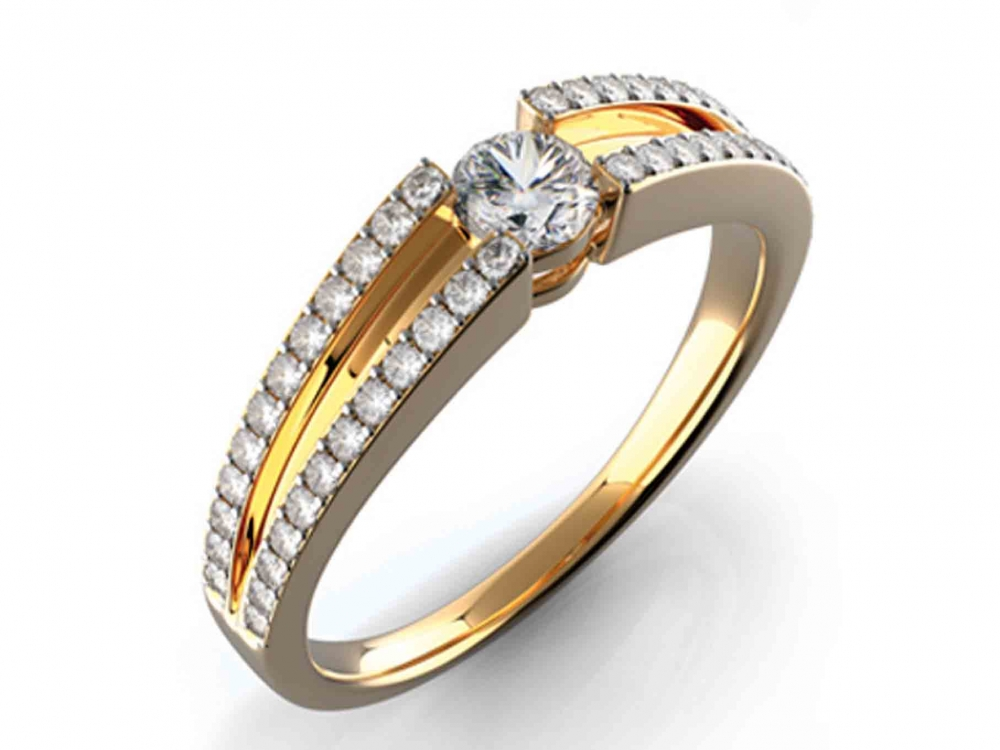 Zásnubní diamantový prsten s diamanty GEMS diamonds, žluté zlato 3810427 POŠTOVNÉ ZDARMA! (3810427)