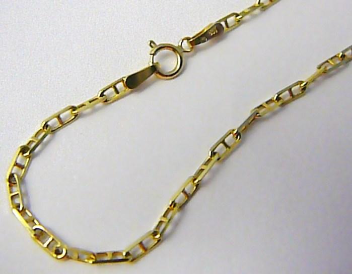 Dámský / pánský zlatý prodloužený řetízek (řetěz) 55cm 585/5,05gr T190