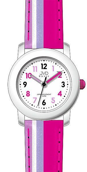Růžové dětské dívčí hodinky JVD basic J7116.1 - 5ATM