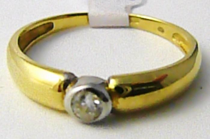 Mohutný zásnubní prsten v kombinaci zlata se zirkonem vel. 59 585/2,15 gr T194 ( )