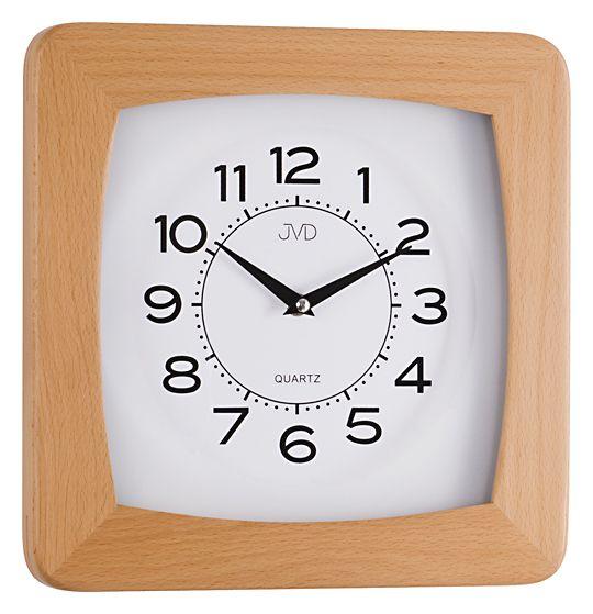 Dřevěné čitelné nástěnné hodiny JVD N29041/68