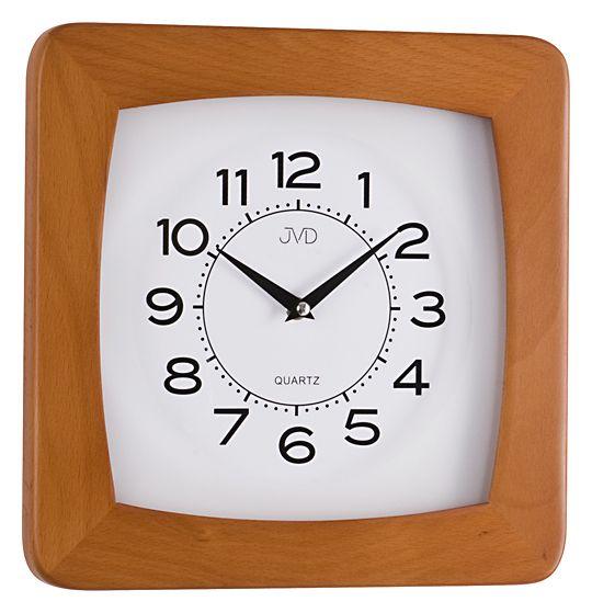 Dřevěné čitelné nástěnné hodiny JVD N29041/41