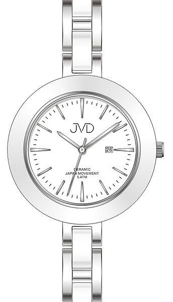 Dámské keramické čitelné módní hodinky JVD J4134.1 - 5ATM POŠTOVNÉ ZDARMA!