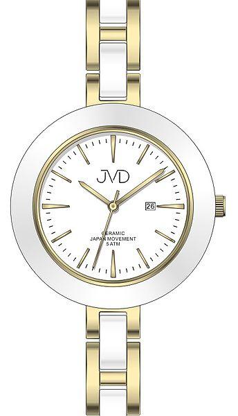 Dámské keramické čitelné módní hodinky JVD J4134.2 - 5ATM POŠTOVNÉ ZDARMA!