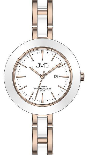Dámské keramické čitelné módní hodinky JVD J4134.3 - 5ATM POŠTOVNÉ ZDARMA!