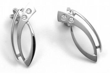 Luxusní náušnice s přírodními diamanty na šroubek 585/1,71 gr J-21588-12 POŠTOVNÉ ZDARMA! (J-21588-12)