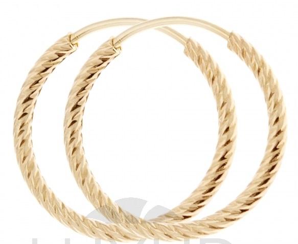 Dámské silné zlaté gravírované kruhy - 18mm - 585/0,97g 1431257 POŠTOVNÉ ZDARMA! (1431257)