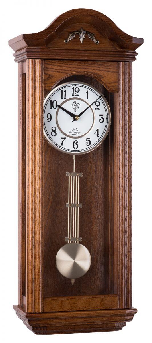 Kyvadlové skříňové dřevěné hodiny pendlovky JVD N9360.2 s melodií POŠTOVNÉ ZDARMA!