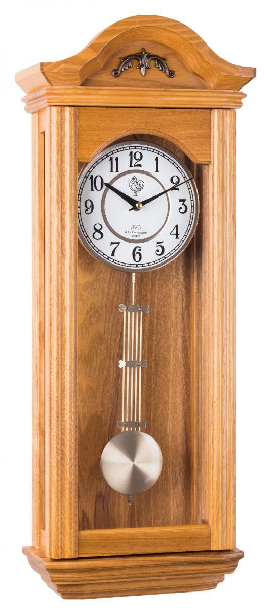 Kyvadlové skříňové dřevěné hodiny pendlovky JVD N9360.1 s melodií POŠTOVNÉ ZDARMA!