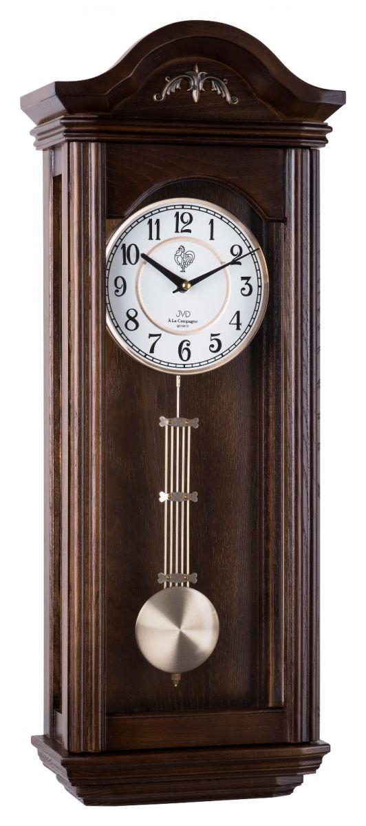 Kyvadlové skříňové dřevěné hodiny pendlovky JVD N9360.3 s melodií POŠTOVNÉ ZDARMA!