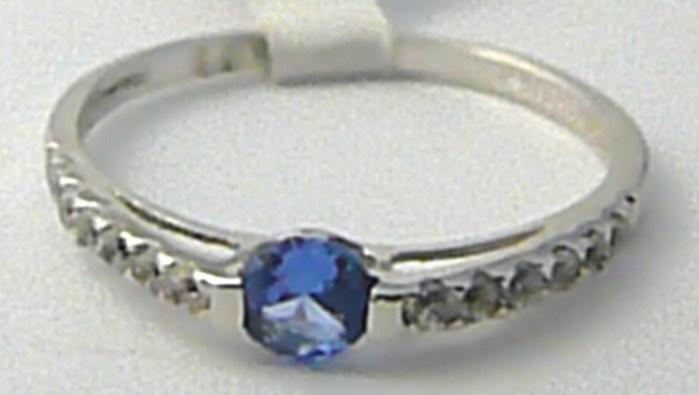Zásnubní zlatý prstýnek s velkým modrým akvamarínem vel. 55 585/1,32 gr P578 POŠTOVNÉ ZDARMA!