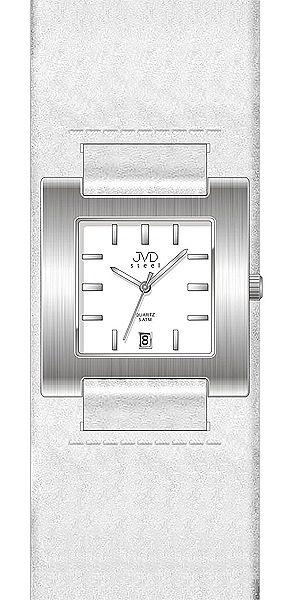 Dámské bílé hranaté moderní hodinky JVD steel J4016.5 POŠTOVNÉ ZDARMA!