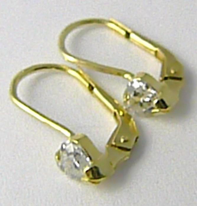 Dámské srdíčkové zlaté náušnice se zirkony se srdíčky 585/1,40gr 236040959 (236040959)