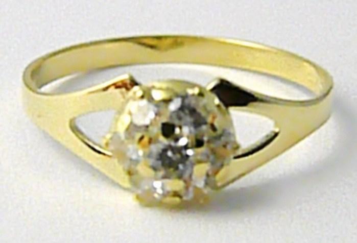 Zásnubní zlatý prsten se zirkony 7 ks vel. 56 585/1,62gr Z123 POŠTOVNÉ ZDARMA! (223041079)