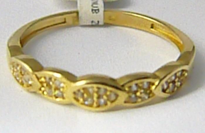 Dámský zlatý prstýnek posetý mnoha zirkony 585/1,62gr vel. 55 P621 POŠTOVNÉ ZDARMA! (1116170)