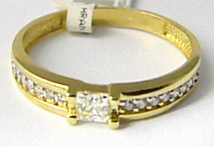 Zásnubní zlatý prsten posetý mnoha zirkony 585/1,77gr vel. 55 P624 POŠTOVNÉ ZDARMA! (1110687)
