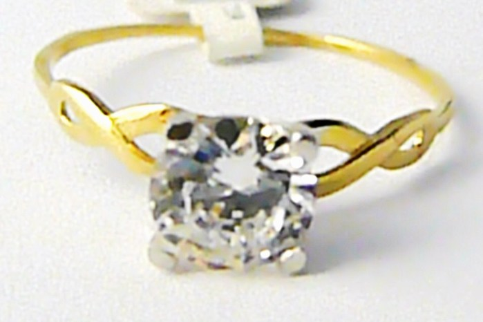 Zásnubní zlatý prsten s velkým zirkonem 585/1,27gr vel. 59 P627 POŠTOVNÉ ZDARMA! (2110128)