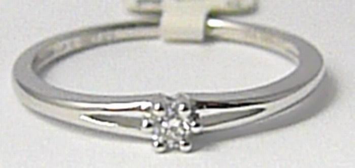 Zásnubní diamantový prsten 0,06ct 1ks diamant vel.52 P632 SKLADEM!!! POŠTOVNÉ ZDARMA!