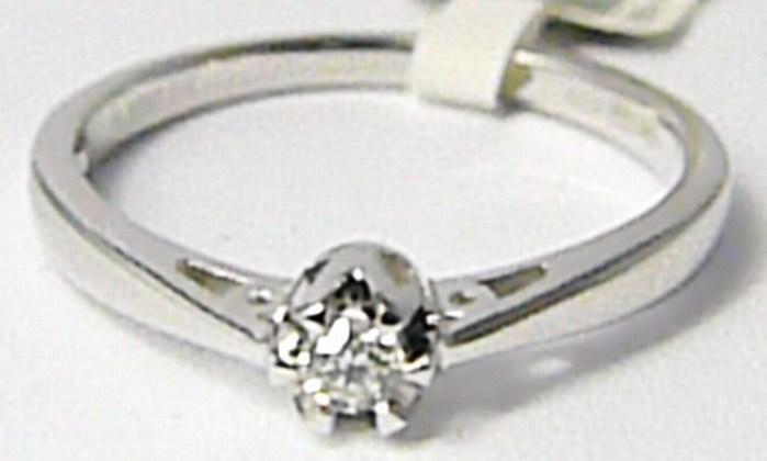 Zásnubní diamantový prsten z bílého zlata 0,07ct vel.libovolná 3861313 (3861313)