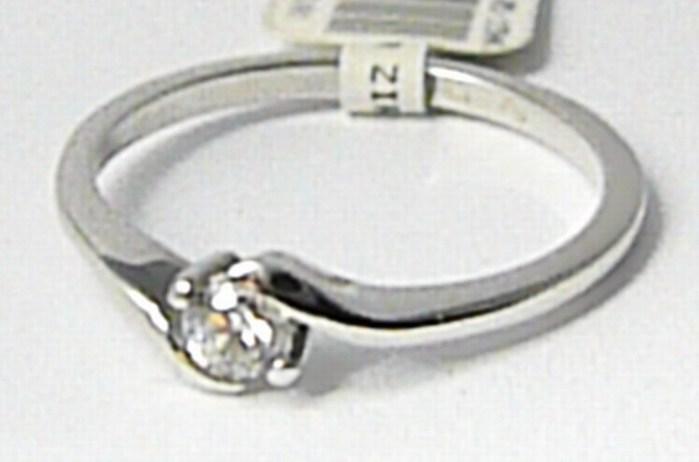 Zásnubní zlatý prsten z bílého zlata se zirkonem 585/1,60gr vel. 51 P637 POŠTOVNÉ ZDARMA! (6864055)