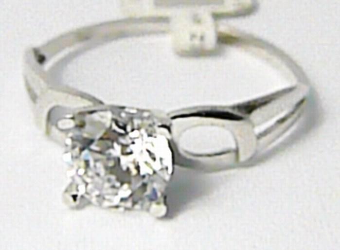 Zásnubní zlatý prsten z bílého zlata se zirkonem 585/1,27gr vel. 52 P638 POŠTOVNÉ ZDARMA! (2160129)